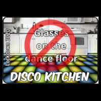 With CHARITY - Kids Disco Kitchen - No Glasses on the Dance Floor (LOGO) T Shirt £8.00 Design