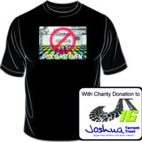 With CHARITY - Adults Disco Kitchen NO Glasses on the dance floor LOGO T Shirt £10.00 Thumbnail